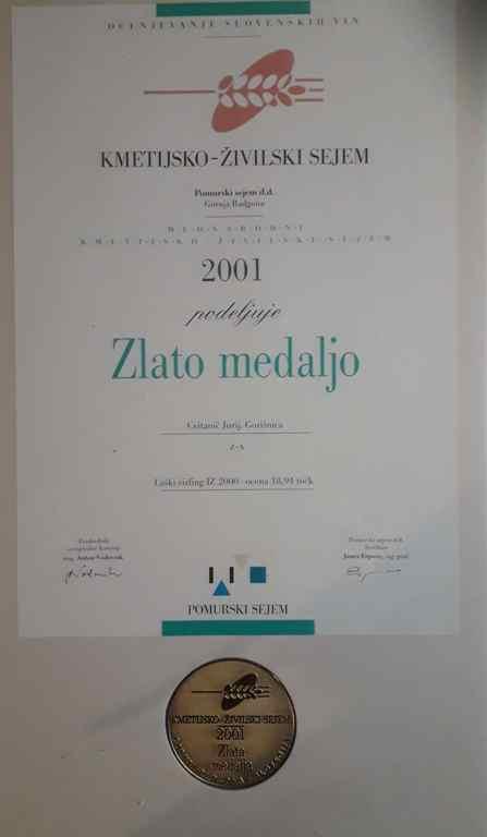 Zlata medalja 2001